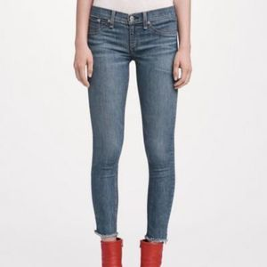 RAG + BONE Ankle Skinny Lucky Rougue Blue Jeans